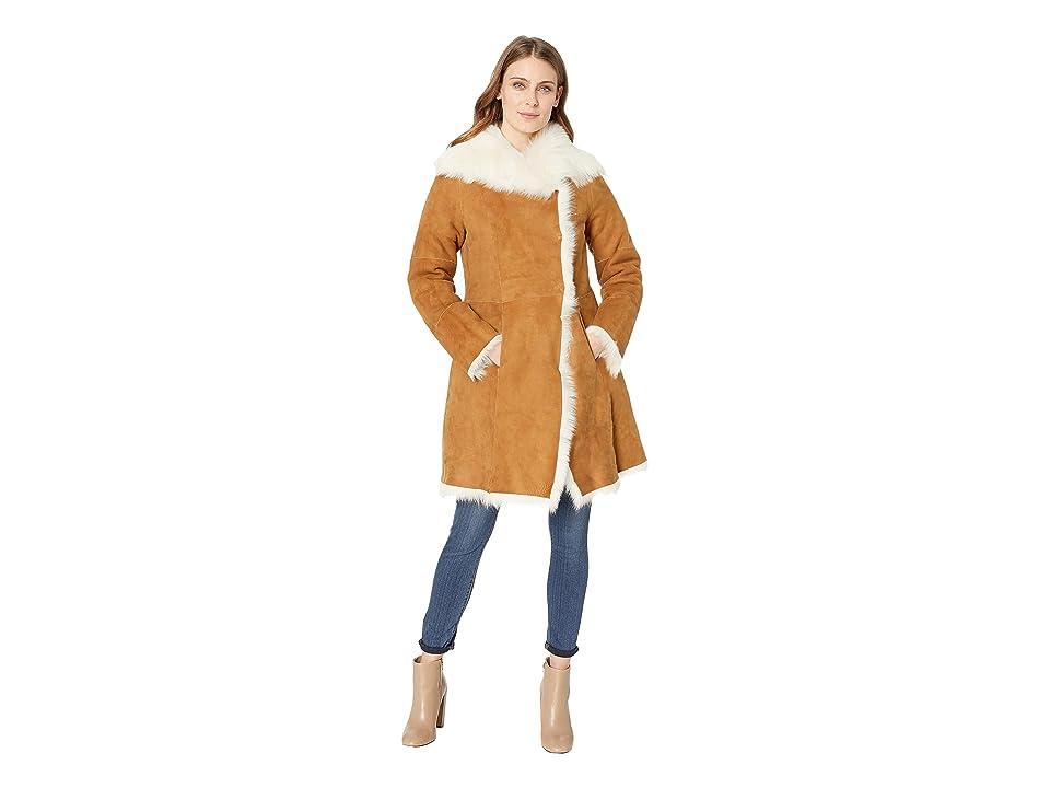 UGG Vanesa Toscana Shearling Coat (Chestnut) Women