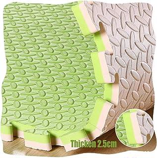 YANGJUN Interlocking Foam Mats Kids Double Sided Non-slip Waterproof Wear Resistant Protection Leaves Pattern Thicken, 2.5...