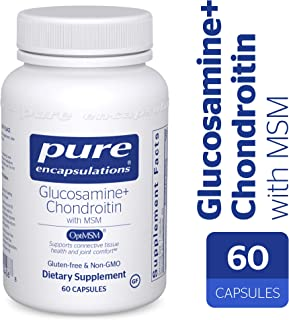 Pure Encapsulations - Glucosamine + Chondroitin with MSM - Healthy Cartilage Strength and Resilience* - 60 Capsules