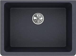 Elkay ELGU2522GY0 Quartz Classic Single Bowl Undermount Sink, Dusk Gray