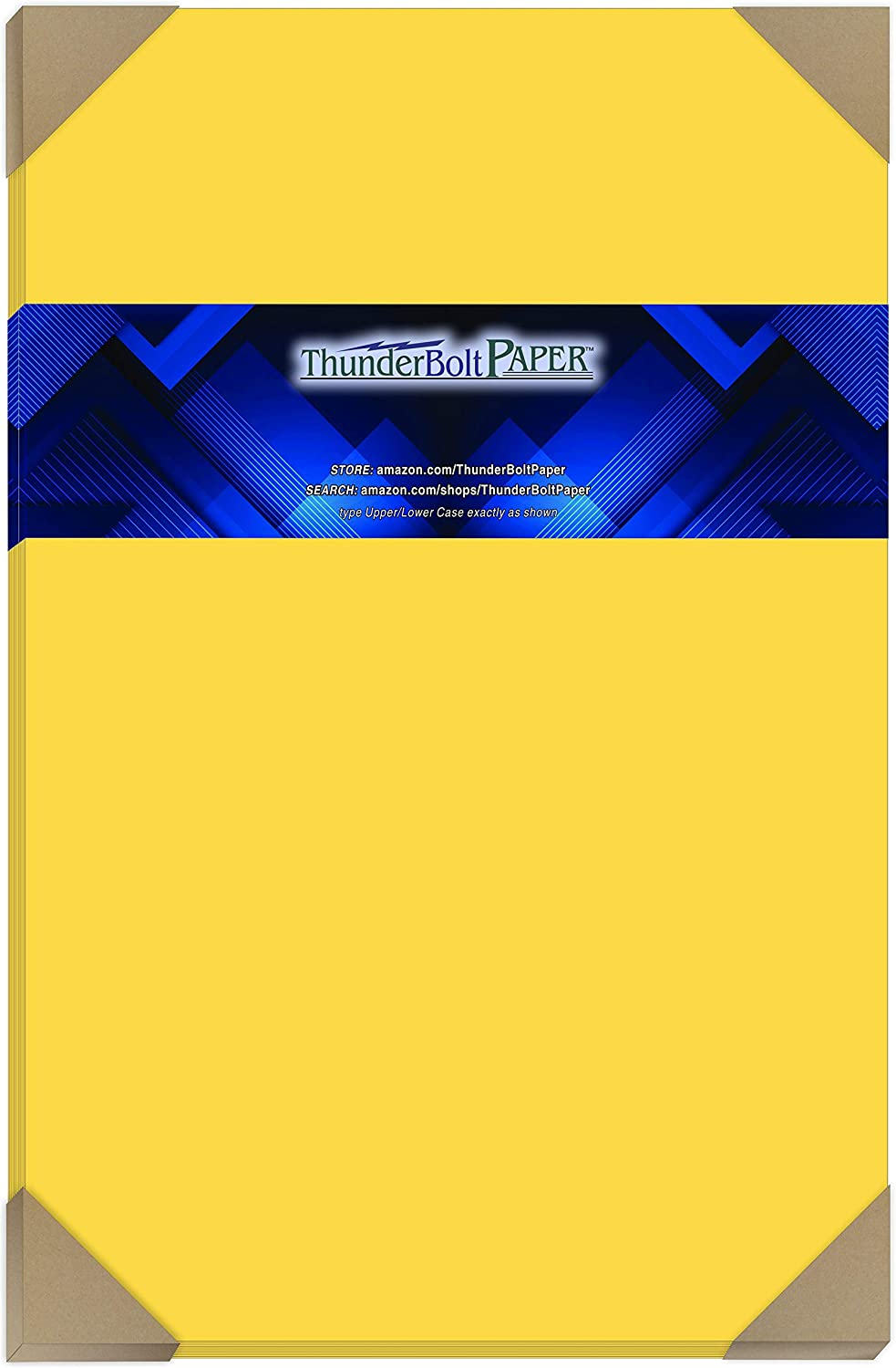 25 Bright Golden Jacksonville Mall Yellow 65lb Cover Card 17