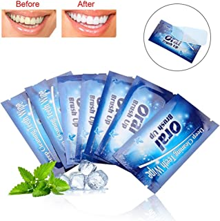 Teeth Whitening Strips, 50Pcs Wipes Tooth Clean Wipe Cloth for Deep Cleaning
