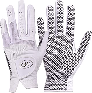 GH Women's Leather Golf Gloves One Pair - Plain Both Hands