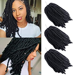 3 Packs Spring Twist Crochet Braid Hair Extension Afro Kinky Twist Hair Golvend Curly Malibob Braiding Synthetisch haar (1...