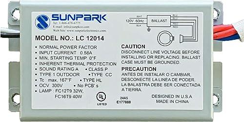 Sunpark LC-12014T (1) FC12T9 32 Watt Circline (1) 2D 38 Watt (1) FC16T9 40 Watt Circline (1) FC9T9 30 Watt Circline L...