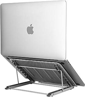 Laptop Stand Upgraded, Adjustable Portable Laptop Holder for Desk, Aluminum Ventilated Notebook Riser for MacBook Air Pro,...