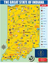 Gallopade Publishing Group Indiana State Map for Students - Pack of 30 (9780635106414)