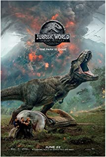 "Jurassic World Fallen Kingdom Movie Poster - Size 24"" X 36"" - This is a Certified Poster Office Print with Holographic Sequential Numbering for Authenticity."