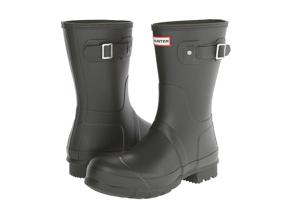 Hunter Original Short Rain Boots (Dark Olive) Men