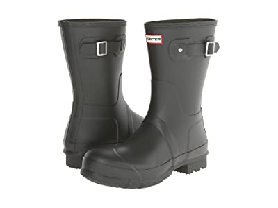 Hunter Original Short Rain Boots (Dark Olive) Men