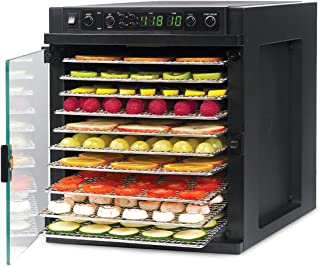 Tribest SDE-S6780-B Sedona Express, Digital Food Dehydrator with Stainless Steel Trays