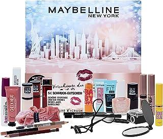 Maybelline New York Adventskalender 2021 24 skönhetsdagar makeup skönhet kosmetika kalender, överraskningar, 24 dörrar, fö...