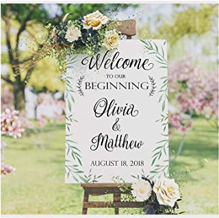 Ornamental Frame Wedding Anniversary Banner Personalized Party Decoration Any Age