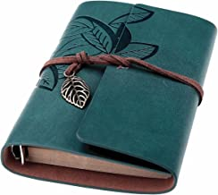 Beyong Leather Writing Journal, Refillable Travelers Notebook, Men & Women Leather Journals to Write in, Art Sketchbook, Travel Dairy, Best Gifts for Teens Girls and Boys (7 Inch, Dark Blue)