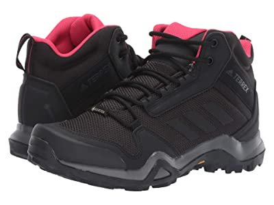 adidas Outdoor Terrex AX3 Mid GTX(r) (Carbon/Black/Active Pink) Women