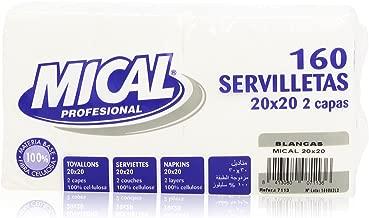 Mical Servilletas, 20 x 20 cm - 160 Unidades
