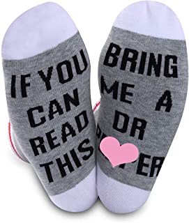 2 PAIRS Dr Pepper Gift Novelty Socks For Men Women Dr Pepper Lover If You Can Read This Bring Me A Dr Pepper