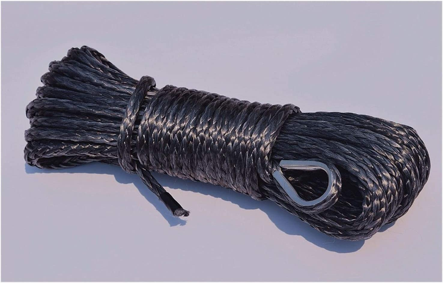 YHMY Towing Ropes Black 6mm15m Winch Synthe Finally resale start Fees free!! Cable Line ATV