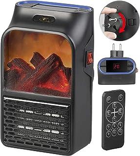 Sichler Haushaltsgeräte - Calefactor pequeño con toma de corriente y mando a distancia, 500 W