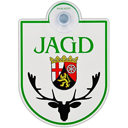 Saugnapfschild Schild Jagd Rheinland Pfalz Acrylschild 3mm Mit Saugnapf 30mm Ca 90x125 Mm Für Scheibeninnenbefestigung Auto
