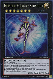 Yu-Gi-Oh! - Number 7: Lucky Straight (GAOV-EN091) - Galactic Overlord - 1st Edition - Secret Rare