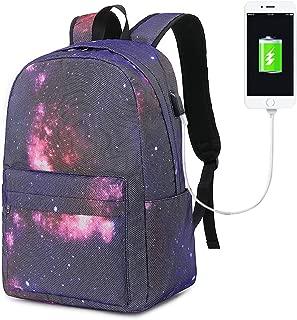 BLUBOON Canvas School Backpack Teen Girls Bookbag Women Travel Laptop Daypack (E0084-Red)