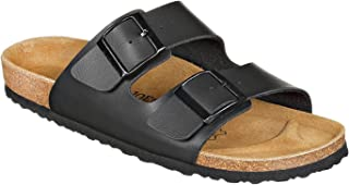 JOE N JOYCE London Unisex Sandals | Cork Sandals with Comfort-Sole | Normal and Narrow Width | Sizes W5-W11 / M4-M13 | Basic Colors