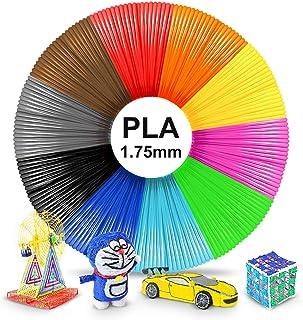 3D Pen PLAFilament 1.75mm,PLA Filament Refills for 3D Pen/3D Printer,3D Pen Filament Compatible 3D Printing Pen,10 Colors 5M/16 Feet,PLA Multicolor 1.75MM