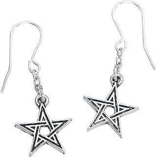 Black Star Earrings by Alchemy Gothic England