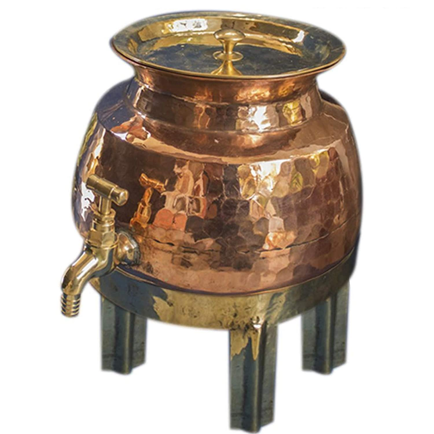 Traditional Copper Water Dispenser Handmade Price reduction Panjabi Hammered 5L Limited price sale