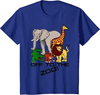 Kids Off To The Zoo Animal T-shirt Boys Girls Child Trip Vacation