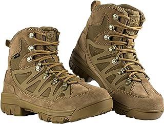 FREE SOLDIER Homme Tactique Bottes Mid High Rise Chaussures de Randonnée d'hiver Bottes de Cuir