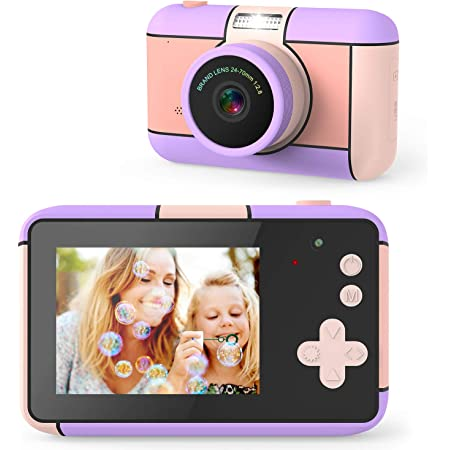 joylink Macchina Fotografica per Bambini, 16MP Bambini Fotocamera Digitale 1080P HD Videocamera Macchina Fotografica Bambini con 32GB Scheda SD Regalo Bambino (Viola)