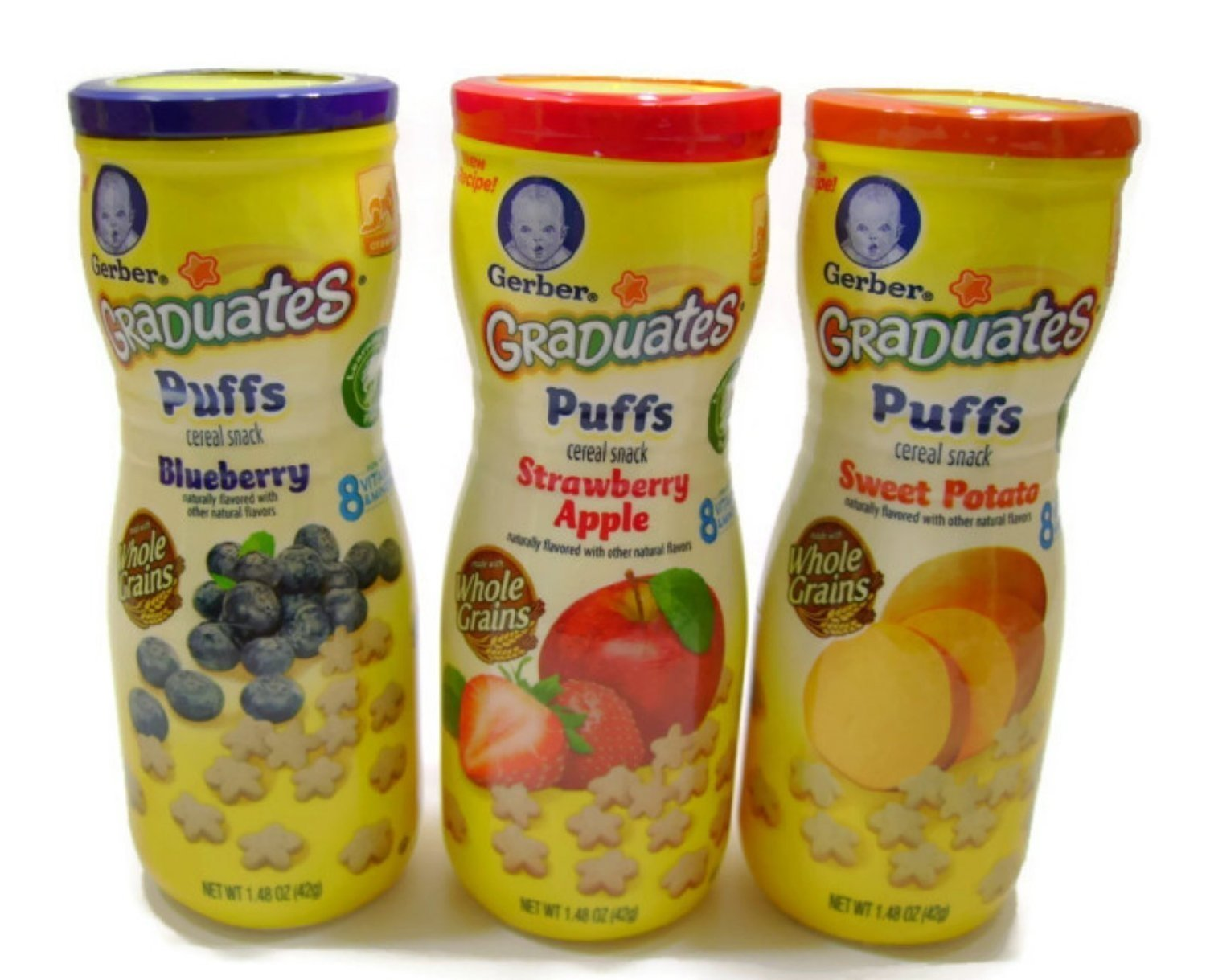 Gerber Graduates Low price Puffs Cereal Snack Max 44% OFF - Pack Blueberry St Variety