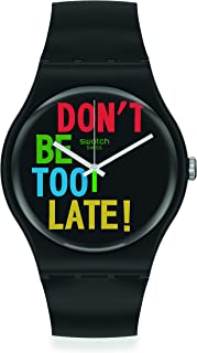 Swatch Swiss Quartz bio-sourced Plastic Strap, Black, 18 Casual Watch (Model: SO29B100)