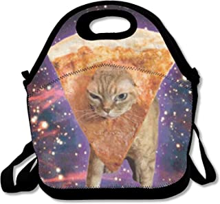 Galaxy Funny Pizza Cat Lunch Bag Lunch Tote Lunch Box Handbag For Boys Girls Adults
