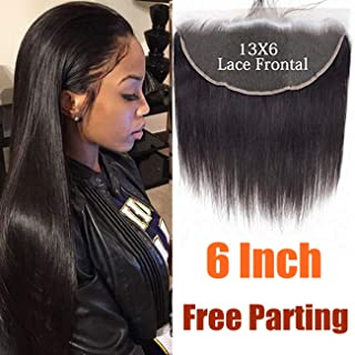 Straight 13x6 Lace Frontal Closure Ear To Ear 130 Density, MS.ILSA Brazilian Virgin Lace Closure Human Hair Pre Plucked Lace Frontal Closure Natural Color 14inches