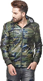 Penymall Army Military Jungle Pattern Men Jacket with Hood for Winter