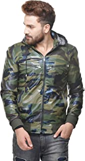 Army Military Jungle Pattern Men Jacket with hood for winter by Penymall
