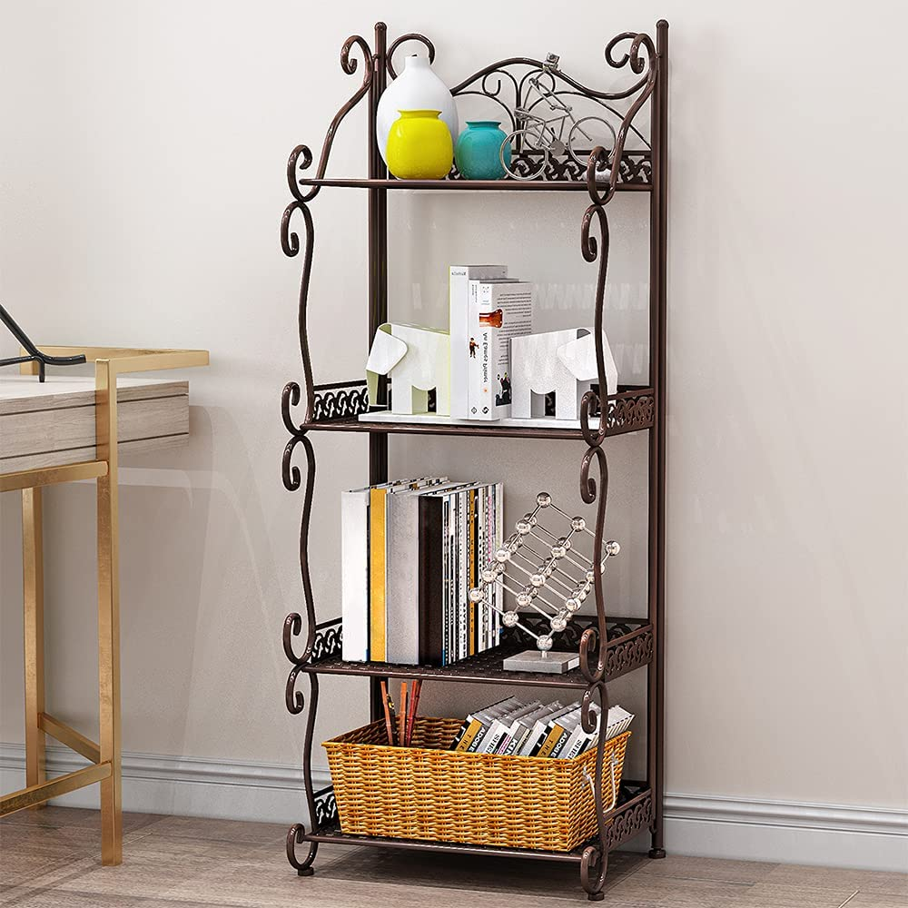 MOAMUN Multifunctional 4-Tier Max 50% Purchase OFF Metal Wire Storage Rack Shelving