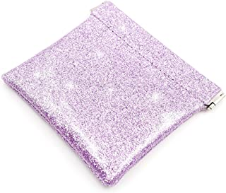Menesia Small Squeeze Coin Purse Holder Made with Glitter PU Leather for Men & Women