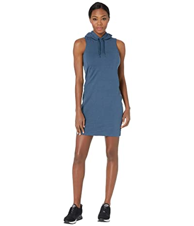 The North Face Bayocean Sleeveless Hooded Dress (Blue Wing Teal Heather) Women