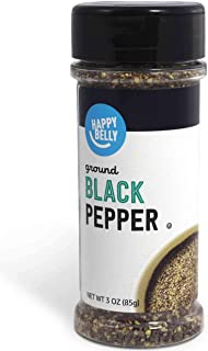 Amazon Brand - Happy Belly Black Pepper, Ground, 3 Ounces