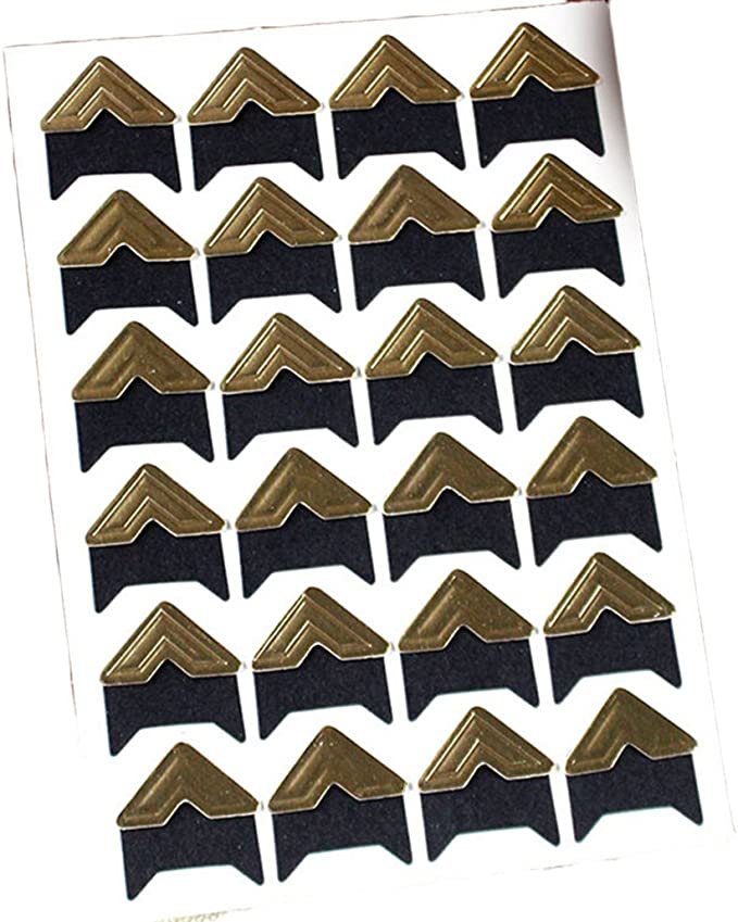 5 Sheets Photo Mounting Corners Photo Corners Self Adhesive for DIY Scrapbooking Brown Picture Album Decorations 6 Colors to Choose