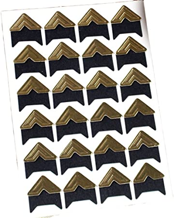 Picture Frame Corners Photo Paper Corners Sticker for DIY Scrapbook and Picture Album Self Adhesive Photo Mounting Stickers 336 Pieces Photo Corners Multicolored