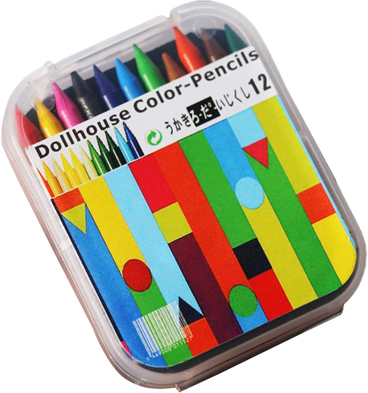CactusAngui 12Pcs Box Crayon Model Ranking Max 72% OFF TOP7 12 Color Real-Like Simulation