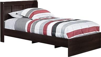 Sauder Parklane Twin Platform Bed with Headboard, Cinnamon Cherry - Guestroom Children's Bedroom Bed Set for Relaxed Sleeping - Engineered Wood Construction