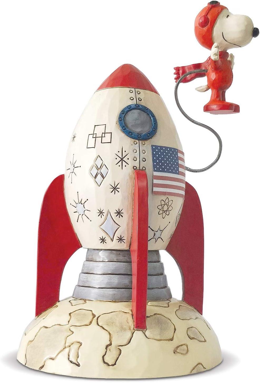 Enesco Peanuts by Jim Shore Spaceship Snoopy Astronaut service Figurine Sale SALE% OFF