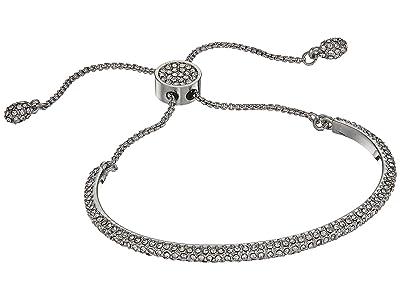 Vince Camuto Crystal Pave Adjustable Slider Bracelet (Silver) Bracelet