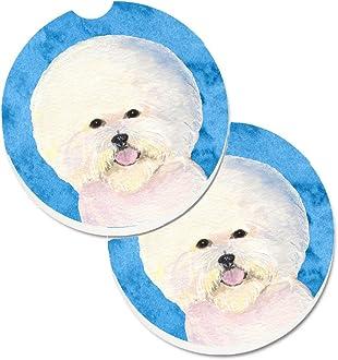 Multicolor 7.5HX7.5W Carolines Treasures Dog House Collection Bichon Frise Pair of Pot Holders BB2829PTHD